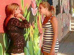 Bossy girl slaps her bitch --- Euro Lezdom