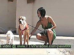 Shanel tender splendid brunette babe walking her dogs