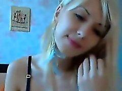 Blonde Cam Girl Strips