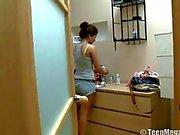 Amanda aka Lara Cute Russian curly haired babysitter earns some money