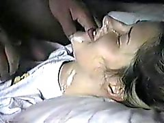 hot teen getting a real messy facial