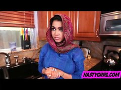 Hijab wearing muslim teen Ada creampied by her new master