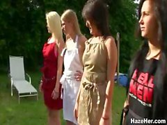 Naked Sorority Hazing and House Cleaning
