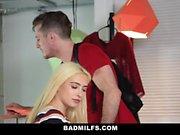 BadMILFS - Busty Milf Has Threesome with Stepson