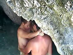 Young couple sex on the beach