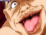 Lascive anime babe gets slammed