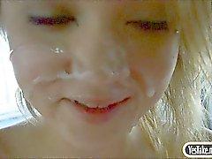 Amateur blonde teen girl Dakota Skye pussy fucked in a car