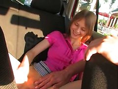 Fingering my girlfriends vagina in a car