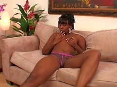 Teen ebony want cock in her ass