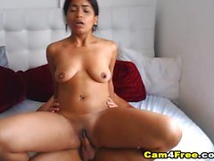 Colombian Morena Gives Her Partner A Awesome Cock Riding