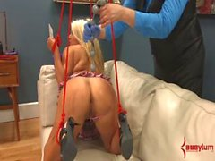 Cheerleader Layla Price tied up and exploited