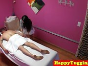 Busty oriental masseuse fucking her client
