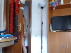 Skinny teen show her body on cam