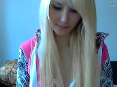 Russian blonde teen oily masturbation
