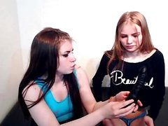 Lesbian teens redhead and blonde on webcam