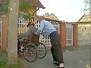 Disabled Oldman fucking Teen