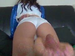 Maria Marley Pantyhouse footjob 1