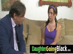 New Black Stepdad Punishes Hot daughter for being late 13