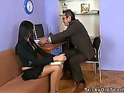 Jenny showed her panties to the teacher.