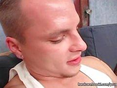 Sexy brunette slut rides stiff dong