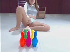 Fresh Teen Teasing & Rubbing Nice Blue Panties