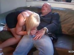 Old Man with Young Blonde