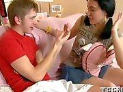 Sweet teen seduced by her tutor