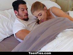 TeenPies - Horny Blonde Teen Leaking Cum
