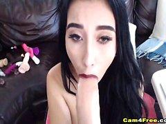 Hard Pussy Masturbation of Pretty Horny Babe on Cam