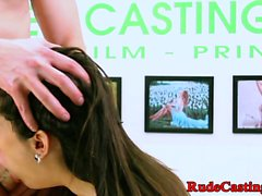 Casting teen beauty screwed roughly