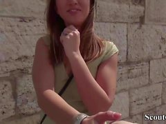 German Scout - Skinny Teen Frida Sante anal fuck in Casting