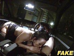 Fake Cop Cheeky young lass likes daring outdoor nailing