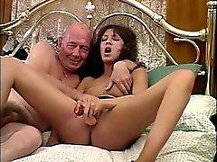 British slut fucks dirty old man