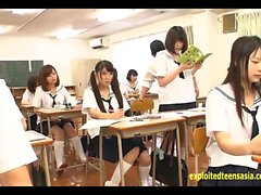 Jav Idol Schoolgirls Fucked By Masked Man In There Classroom