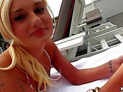 Young bikini girl Charli Shiin shwos her naughty parts
