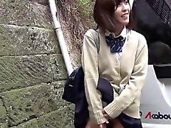 Asian teen wears vibrator