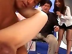 Young Asian hotties give blowjobs and get their cunts finge