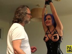 Bound sub gets ass fucked