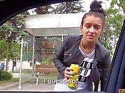 Amateur teen slut Vanessa Rodriguez fucked in a car