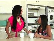 Ebony ladies Rio and Katt fucked a guy