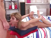 Teen honey works her way up to a full length face fuck