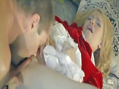Mae Olsen is a kinky blonde teenager who takes on an older man