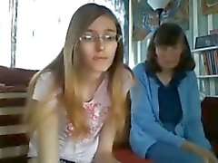 Funny Ugly Teen with mature friend in cam