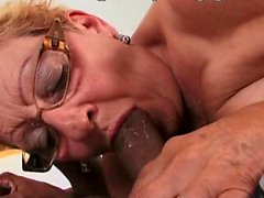 Grandma BBC anal sex