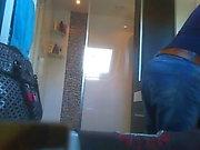 Hidden cam: Teen ponygirl in the bathroom