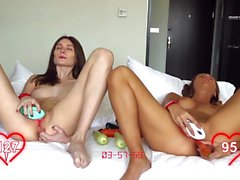 Orgasm World Championship: two hot beautiful teens