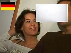 German Couple rent a hot slut