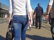 Beautiful young woman's ass