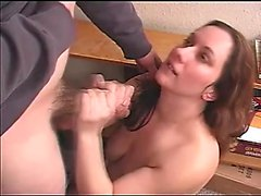 Curvy wife Taylor vigorously works her skillful hands on a long shaft