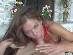 Busty slut loves slurping big dicks